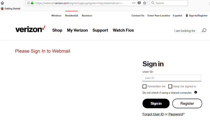 Verizon Email Login - Verizon Webmail