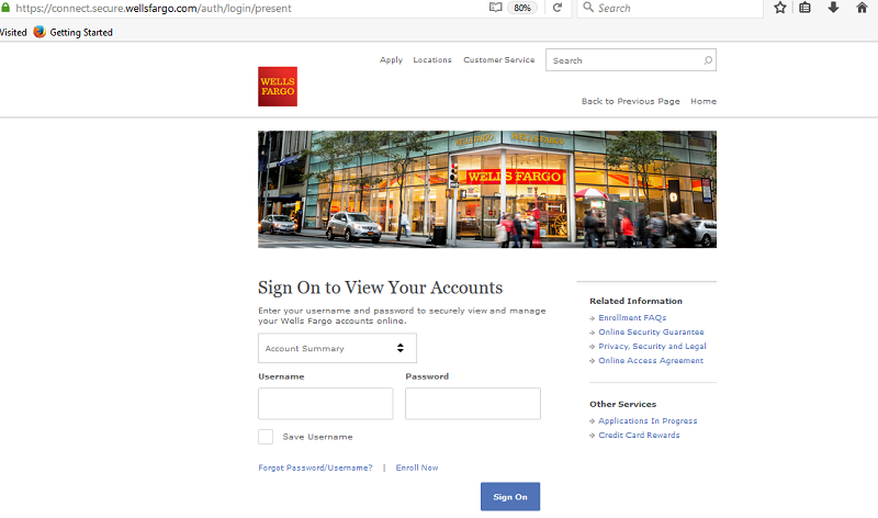 Wells Fargo login